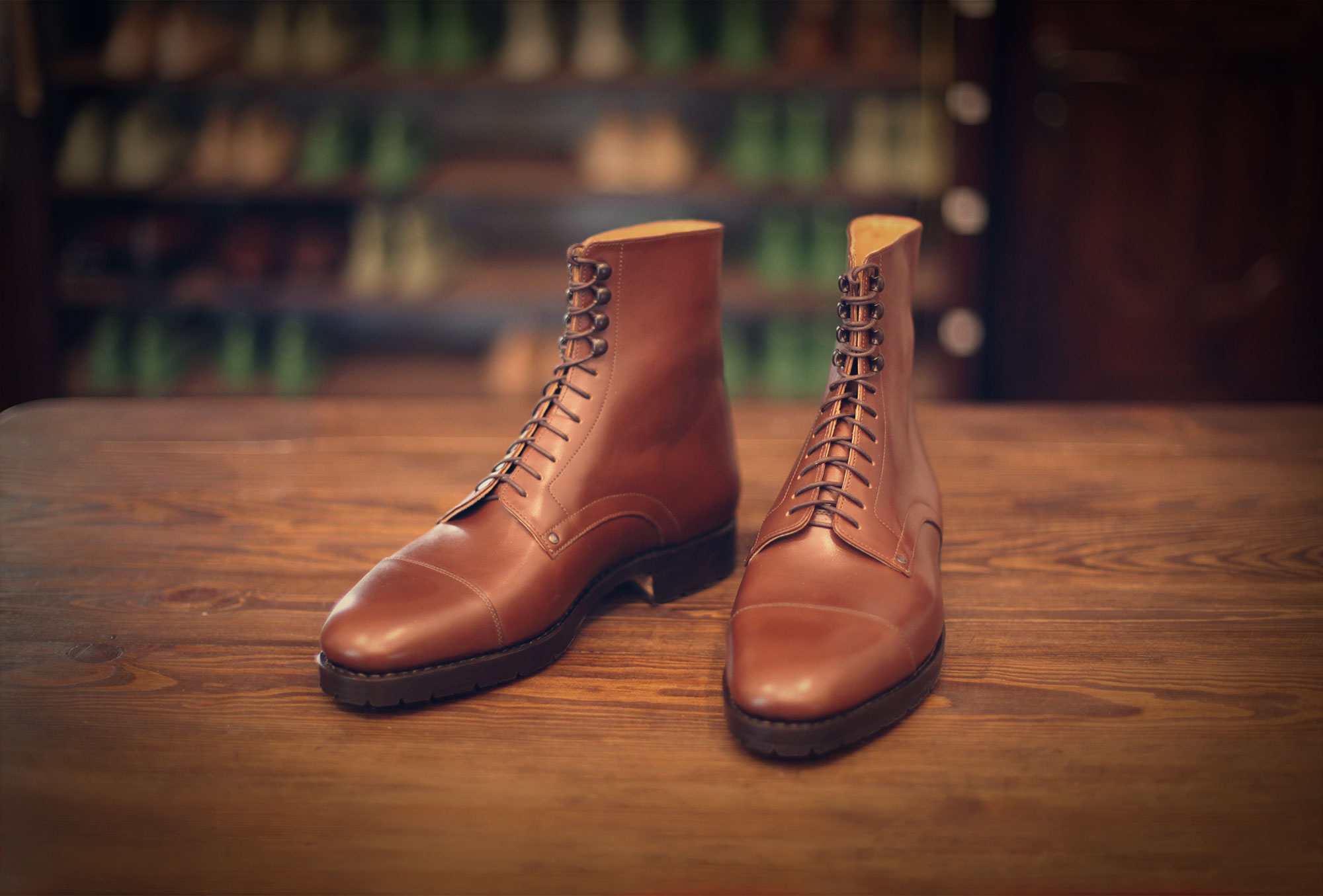 boots derby brown hunting