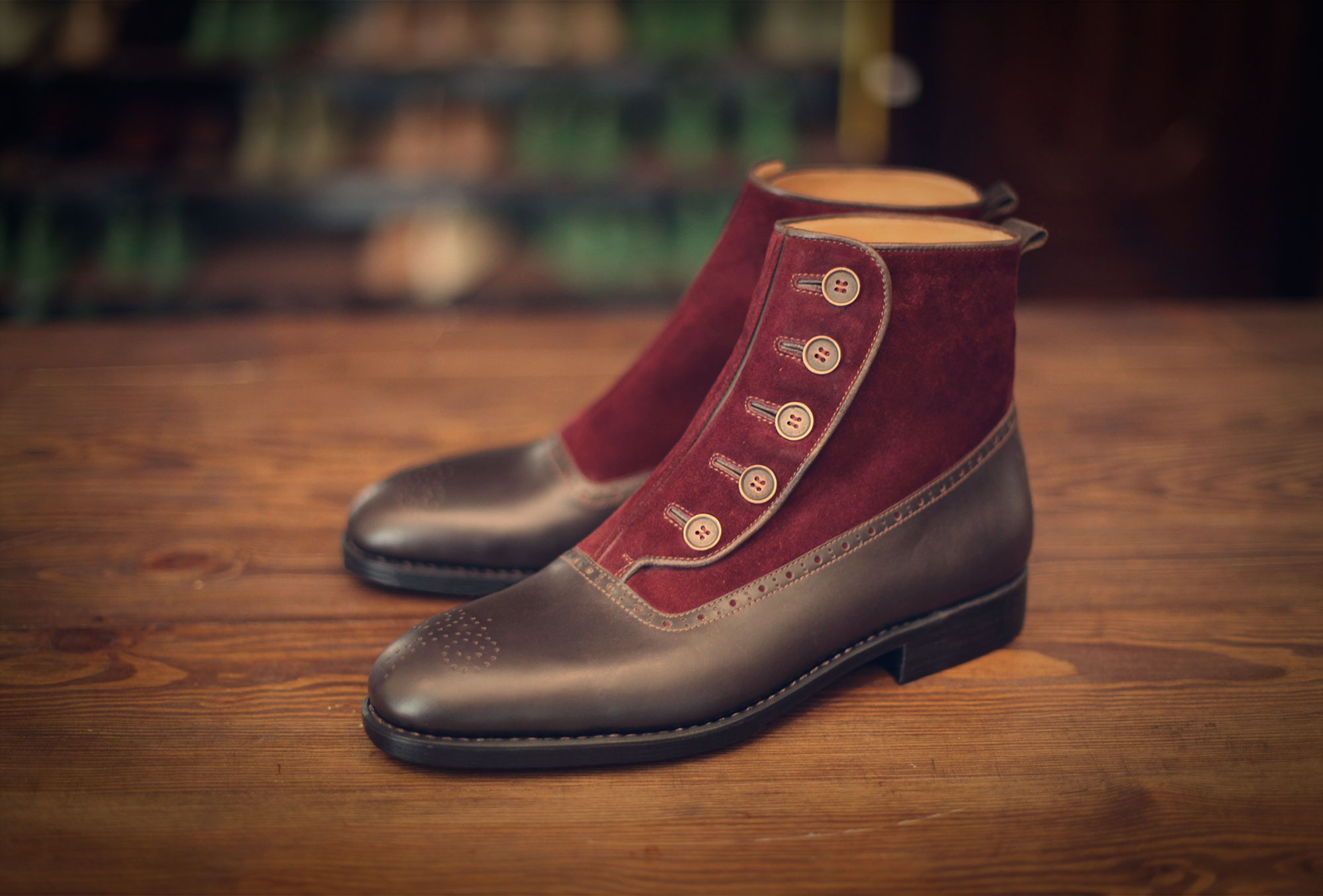 boots ankle red