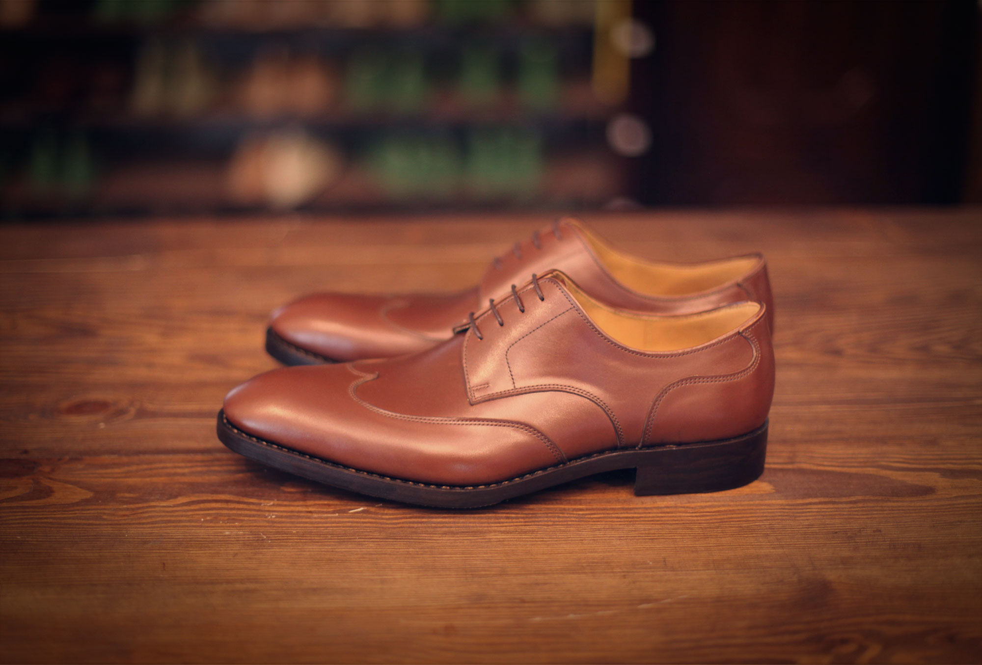 derby w-wing style brown