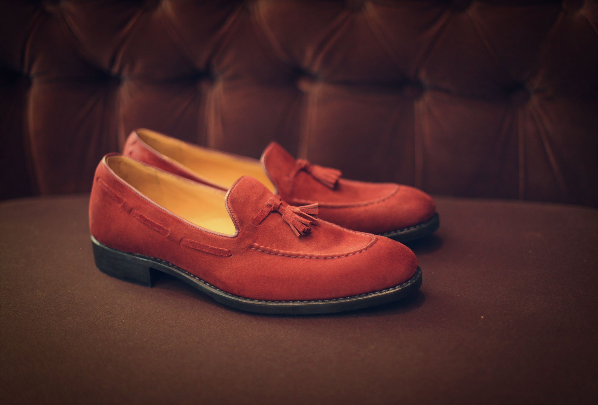 loafer velure red