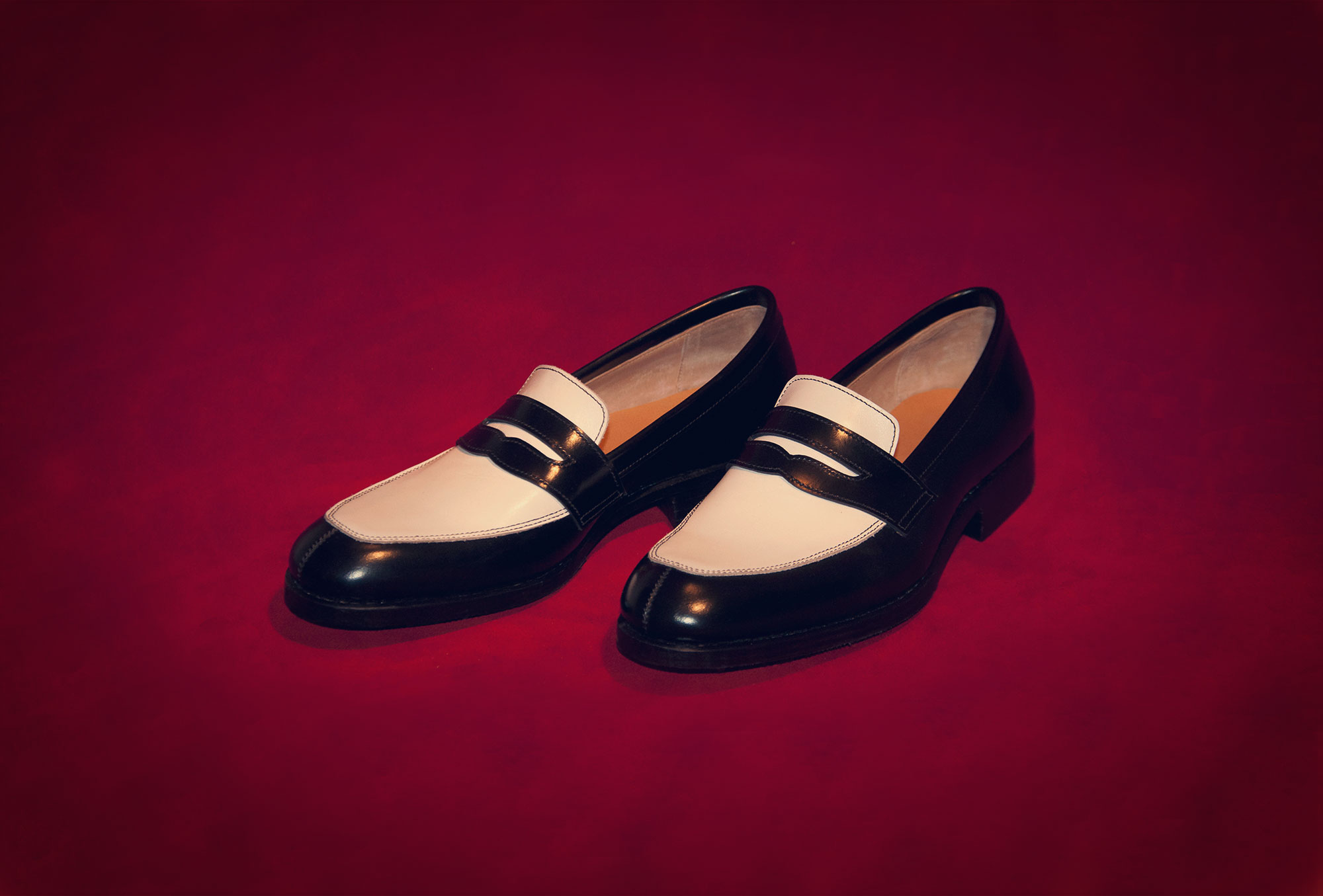 loafer black and white